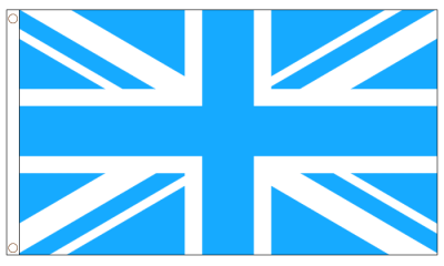 Union Jack Sky Blue Flag