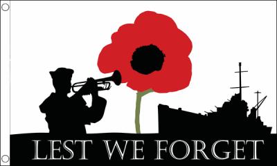 Lest We Forget (Navy) Flag