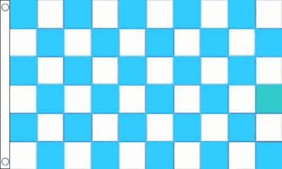 Sky Blue and White Check Flag