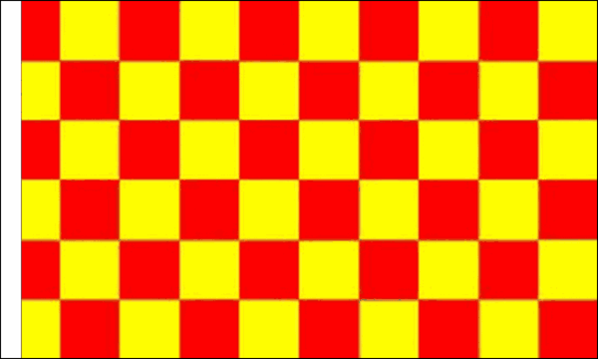 Red and Yellow Check Flag (Sleeved)