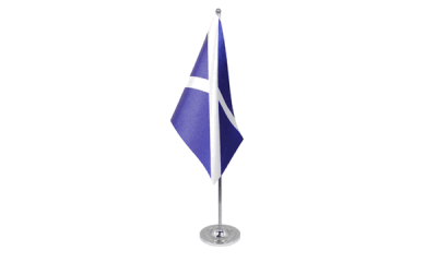 St Andrews (Navy Blue) Satin Table Flag