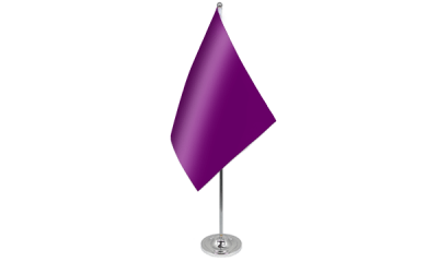 Plain Purple Satin Table Flag