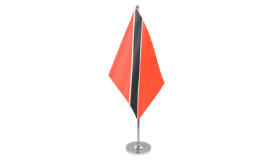 Trinidad and Tobago Satin Table Flag