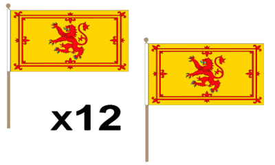 Scotland Lion Large Hand Flags