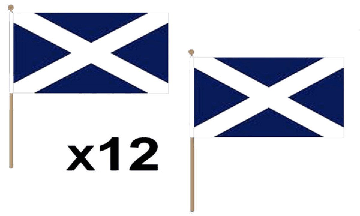 St Andrews (Navy Blue) Hand Flags