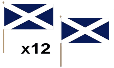 St Andrews (Navy Blue) Large Hand Flags
