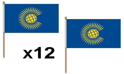 Commonwealth (New) Large Hand Flags