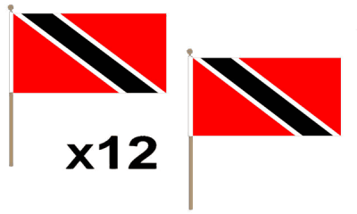 Trinidad and Tobago Large Hand Flags