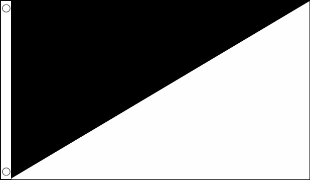 Black and White Unsportsmanlike Conduct Flag
