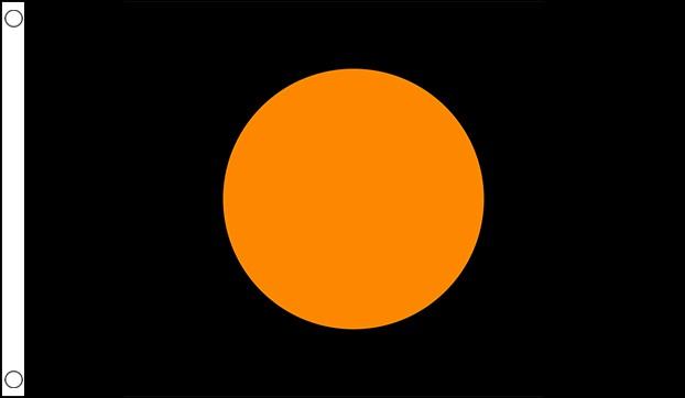 Black with Orange Circle Racing Flag