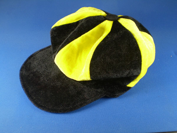 Black and Yellow Flat Cap Hats
