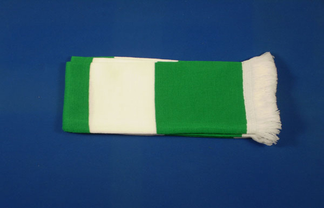 Green and White Scarf
