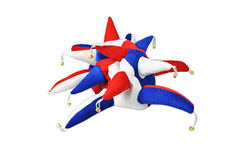 Red, White and Blue Jester Hats