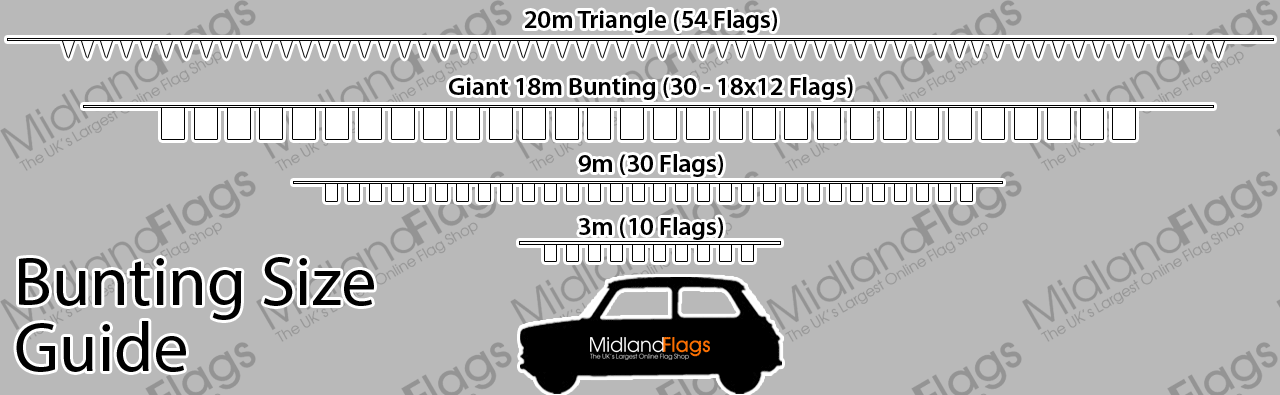 Flags And Bunting Size Guide