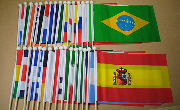 World Hand Waving Flags